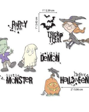 Sizzix Clear Stamps – Fright Night! by Pete Hughes 664476 Pete Hughes