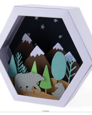Sizzix Thinlits Die Set – Box Winter Scene 28PK 664582 Jessica Scott
