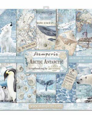 Stamperia Arctic Antarctic 8×8 Inch Paper Pack (SBBS20)