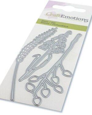 CraftEmotions Die – droogbloemen – grassen Card 5x10cm