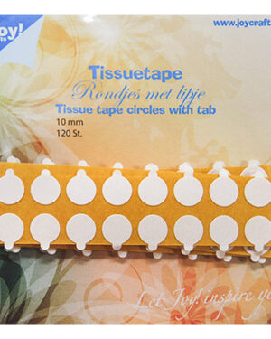 6500/0104 – Tissuetape-rondjes met treklipje – Ø10 mm