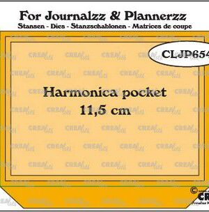 Crealies Journalzz & Pl Stans Harmonica pocket CLJP654 pocketsize: 11,5cm