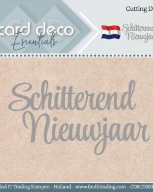 Card Deco Essentials – Cutting Dies – Schitterend Nieuwjaar CDECD0039