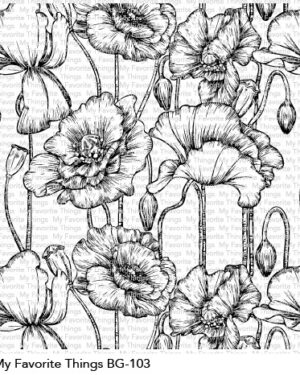 My Favorite Things Poppies Background Stamp (BG-103)