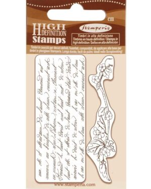 Stamperia Natural Rubber Stamp Writings and Branch (WTKCC184)