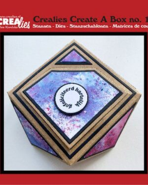 Crealies Create A Box no. 15 Juwelendoosje CCAB15 12×12 cm