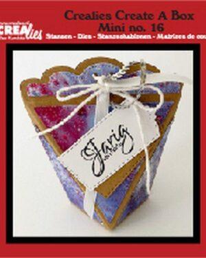 Crealies Create A Box Mini no. 16 zakdoosje CCABM16 8x4x10 cm