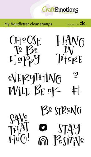 CraftEmotions clearstamps A6 – handletter – Choose to be happy (Eng) Carla Kamphuis