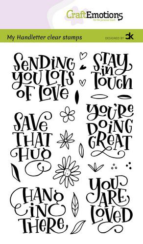 CraftEmotions clearstamps A6 – Sending you lots of love – Carla Kamphuis