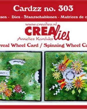 Crealies Cardzz 2x Draaikaart CLCZ303 10,5 X 10,5 cm