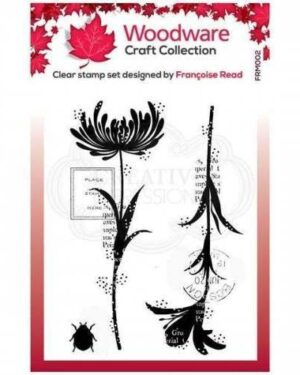 Woodware • Clear singles Mini flower silhouettes