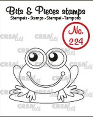 Crealies Clearstamp Bits & Pieces Kikker CLBP224 32x43mm