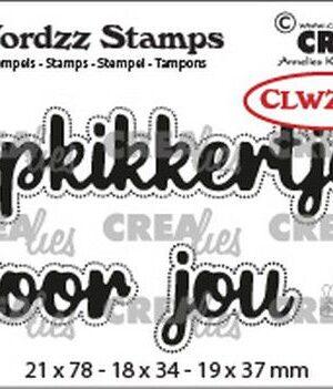 Crealies Clearstamp Wordzz Opkikkertje voor jou (NL) CLWZS04 21x78mm