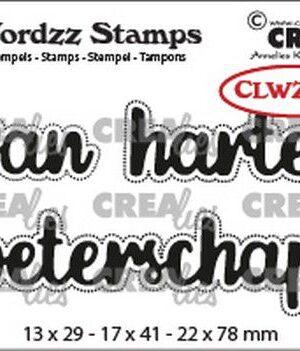 Crealies Clearstamp Wordzz van Harte beterschap (NL) CLWZS03 22x78mm