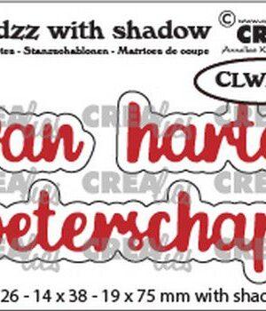 Crealies Wordzz with Shadow van Harte beterschap (NL) CLWZ03 19x75mm