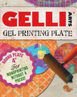 Gelli Arts – Gel Printing Plate rond 10cm GEL4R
