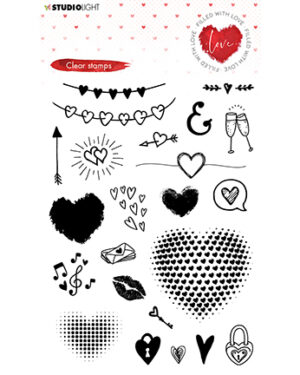 STAMPFWL508 – Studio Light – Clear Stamp – Filled With love – nr.508