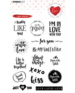 STAMPFWL509 – Studio Light – Clear Stamp – Filled With love – nr.509