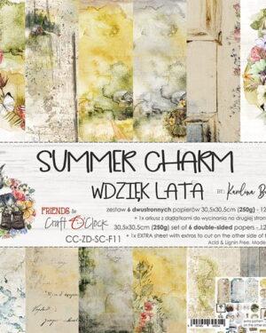 Craft O' Clock – Summer Charm – Paperpad 30.5 x 30.5 cm
