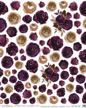 Craft O' Clock – Plum in Chocolate – Extras to cut Flowers