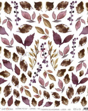 Craft O' Clock – Plum in Chocolate – Extras to cut Leaves