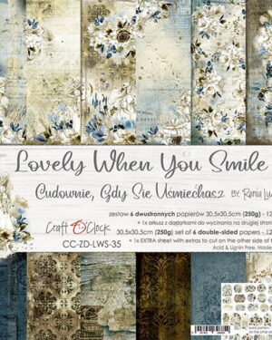 Craft O' Clock – Lovely When You Smile – Paperpad 20.5 x 20.5 cm