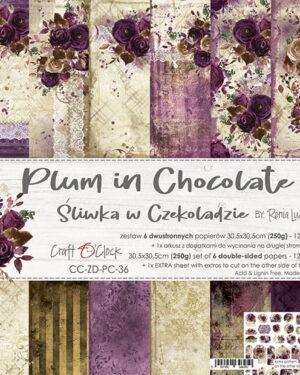 Craft O' Clock – Plum in Chocolate – Paperpad 30.5 x 30.5 cm