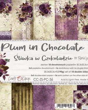 Craft O' Clock – Plum in Chocolate – Paperpad 20.5 x 20.5 cm