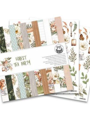 Piatek13 – Paper pad Forest tea party, 12×12'' P13-FOR-08