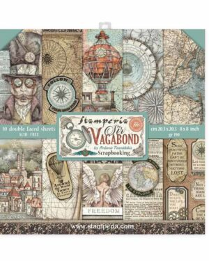 Stamperia Sir Vagabond 8×8 Inch Paper Pack (SBBS25)