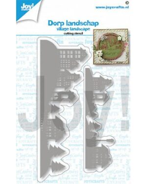 6002/1461 – Snijstencil- Landschap huizen