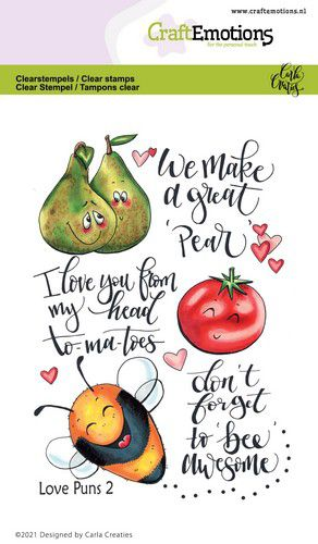 CraftEmotions clearstamps A6 – Love Puns 2 Carla Creaties