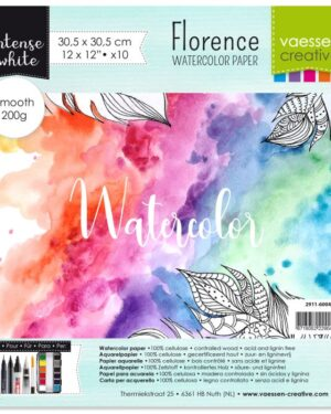 Florence • Aquarelpapier 30,5×30,5cm smooth White 200gr 10vellen