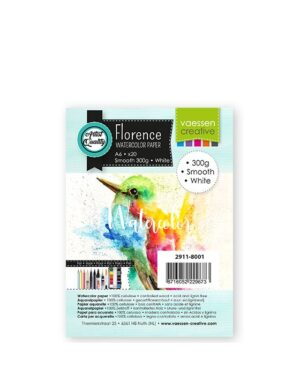 Florence • Aquarelpapier A6 smooth White 300gr 20vellen