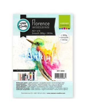 Florence • Aquarelpapier A5 smooth White 300gr 15vellen