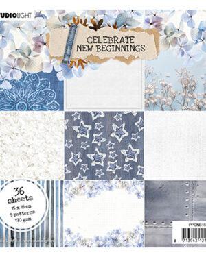 SL Paper pad Pattern Paper Celebrate new beginnings 150x150mm nr.159
