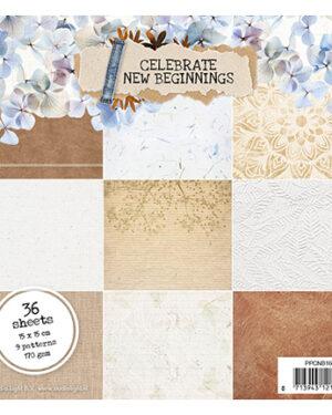 SL Paper pad Pattern Paper Celebrate new beginnings 150x150mm nr.160