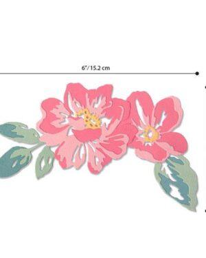 Sizzix Thinlits Die Set – 10PK Floral Layers 664359