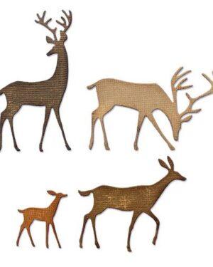 Sizzix Thinlits Die Set – 4PK Darling Deer 664968 Tim Holtz