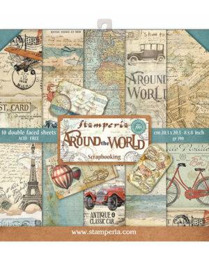 Stamperia Around the World 8×8 Inch Paper Pack (SBBS12)