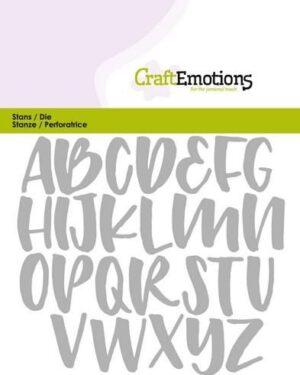 CraftEmotions Die – alfabet handlettering hoofdletters Card 11x9cm