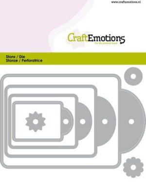CraftEmotions Die – labels 4 formaten Card 11x9cm – 44, 61, 82, 107 mm
