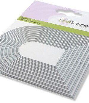 CraftEmotions Die – randen toog Card 11x9cm