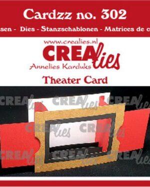 Crealies Cardzz Theater kaart CLCZ302 10,5×14,5cm