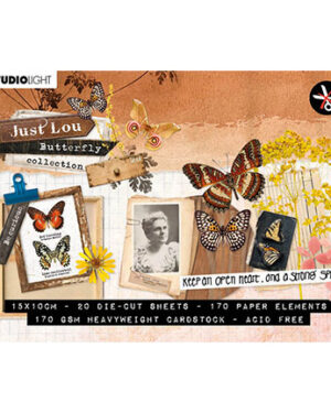 A6STANSBLOKJL04 – JL Die Cut Block Paper Elements Butterfly Collection nr.04