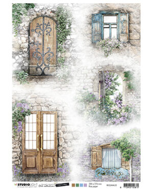 RICEJMA35 – JMA Rice Paper Doors & windows Time to Relax 2.0 nr.35