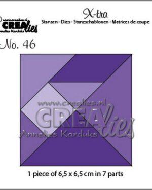 Crealies Xtra Tangram CLXtra46 6,5×6,5cm