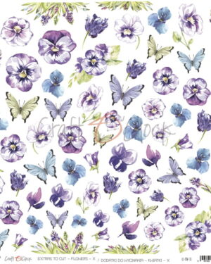 Craft o Clock – Flowers – A SHEET OF EXTRAS TO CUT