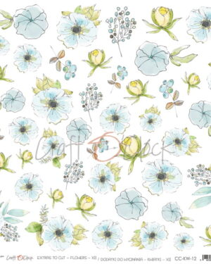 Craft o Clock – FLOWERS – 12 – A SHEET OF EXTRAS TO CUT