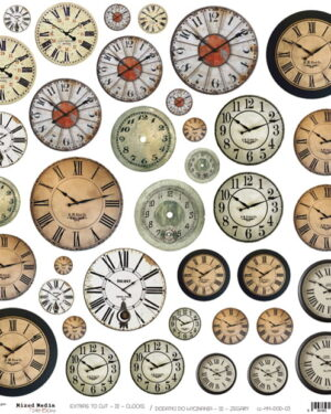 MM – CLOCKS – A SHEET OF EXTRAS TO CUT